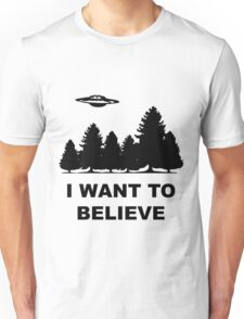 """""""I want to believe"""" X Files Unisex T-Shirt"""