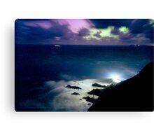 Northern Lights at Hartland Point Devon England UK Canvas Print
