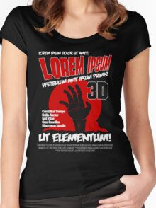 B Movie Poster Proposal Women's Fitted Scoop T-Shirt