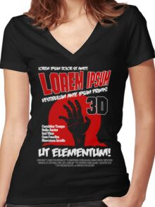B Movie Poster Proposal Women's Fitted V-Neck T-Shirt