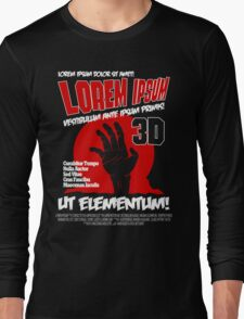 B Movie Poster Proposal Long Sleeve T-Shirt