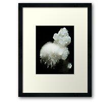 Mesolite Crystals Framed Print