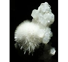 Mesolite Crystals Photographic Print