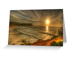 First Light - Avalon Headland, Sydney Australia- The HDR Experience Greeting Card