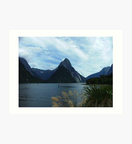 Mitre Peak, Milford Sound, New Zealand Art Print