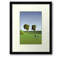 Kidz love to run in Copenhagen... Framed Print