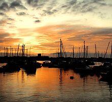 St Aubin Jersey at sunrise by Gary Power