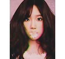 KIM TAE-YEON - GIRLS' GENERATION - KPOP IDOL - DIGITAL EDIT Photographic Print