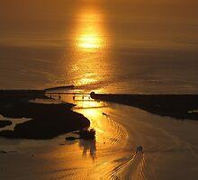Golden Sunrise, Sebastian Inlet by IRCbyAir