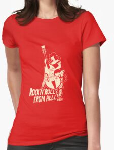 Rock´n´roll from hell Womens Fitted T-Shirt