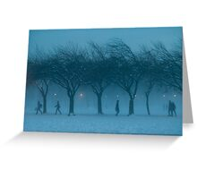 Winter Scene The Meadows Edinburgh Scotland UK Greeting Card