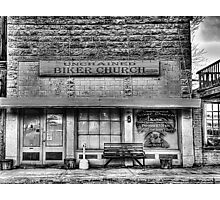 Biker Church - Chico , Texas Photographic Print
