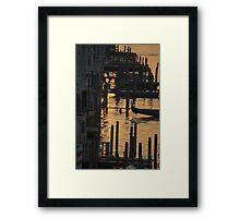 Dawn Gondolas Framed Print