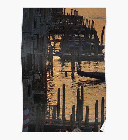 Dawn Gondolas Poster