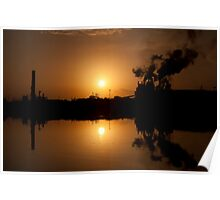 Sunset and the Georgetown Steel Mill Poster