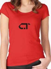 COMATONE LOGO - BLACK Women's Fitted Scoop T-Shirt