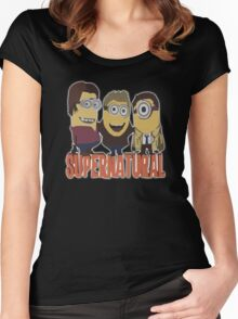 MINIONS T-shirt SUPERNATURAL Women's Fitted Scoop T-Shirt