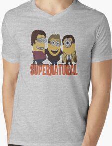 MINIONS T-shirt SUPERNATURAL Mens V-Neck T-Shirt