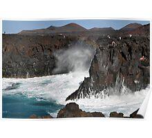 Los Hervideros Lanzarote Canary Island Poster
