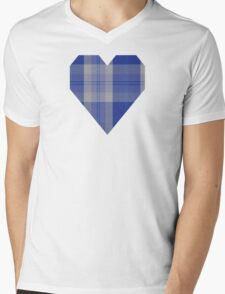 00446 Bannockbane Blue #3 Tartan  Mens V-Neck T-Shirt
