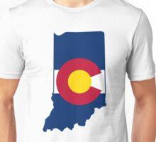 Indiana Colorado Flag Unisex T-Shirt
