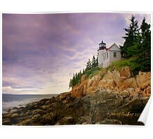 Bass Harbor Head Lighthouse - Landscape Poster