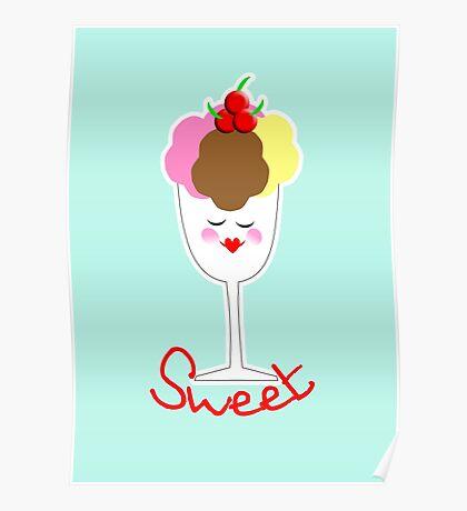 Cute Fun Ice Cream Sundae Sweet Poster