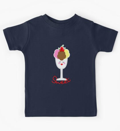 Cute Fun Ice Cream Sundae Sweet Kids Tee