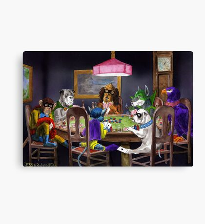 A Super Friend in Need Canvas Print