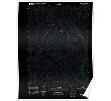 USGS Topo Map Oregon Rio Canyon 20110901 TM Inverted Poster