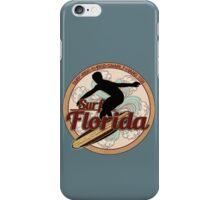 Surf Florida vintage surfboard logo iPhone Case/Skin