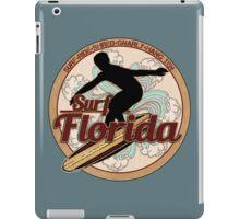 Surf Florida vintage surfboard logo iPad Case/Skin