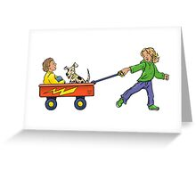 Wagon Pull Greeting Card