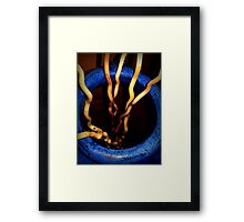 Blue Bamboo Stalk 1 Framed Print