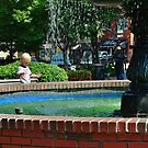 Playing in the Fountain by Scott Mitchell