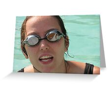 Pool goggles Greeting Card