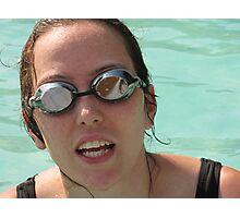 Pool goggles Photographic Print