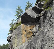 Cliff Face- Long Lake by Tracy Wazny