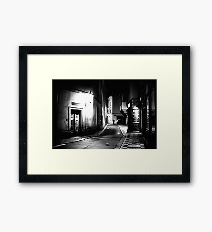 Late night stroll Framed Print