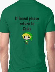 If Found, Please Return to Zelda T-Shirt