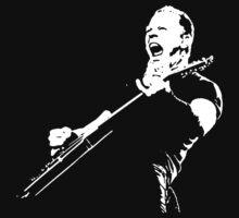 James Hetfield stencil by Suryati82