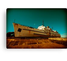 Beached Liner Canvas Print