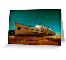 Beached Liner Greeting Card