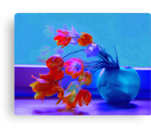 Midnight Tulips Canvas Print