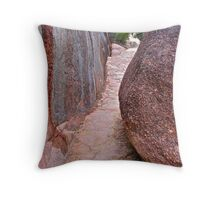 Walls of Rock Throw Pillow