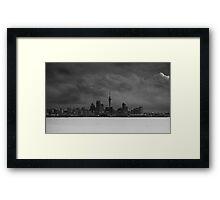 Storm over Auckland Framed Print