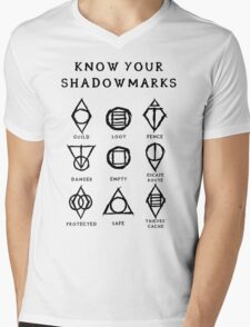 Know Your Shadowmarks (Dark) Mens V-Neck T-Shirt