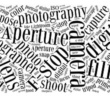 Photography Word Cloud by Edward Fielding