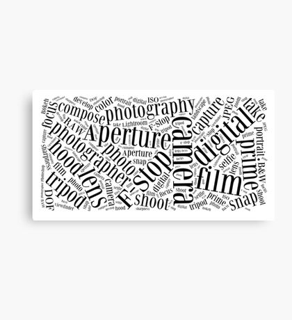 Photography Word Cloud Canvas Print