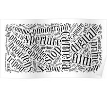 Photography Word Cloud Poster